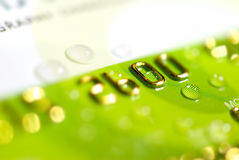 Green credit card Stock Photography