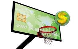 Green credit card Stock Image