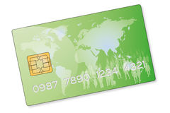 Green credit card Stock Photo
