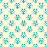 Green and Creme Damask Seamless Pattern Royalty Free Stock Photography