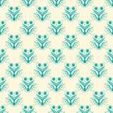 Green and Creme Damask Seamless Pattern. Damask seamless pattern with green design over creme background royalty free illustration