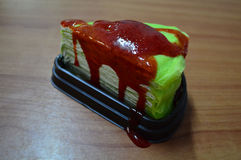 Green Crepe Cake Royalty Free Stock Photography