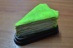 Green Crepe Cake Royalty Free Stock Image