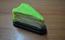 Green Crepe Cake Royalty Free Stock Images