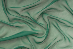Green crepe de chine Stock Photography