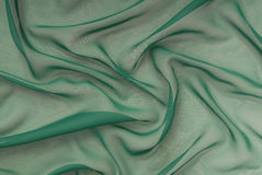 Green crepe de chine Stock Image