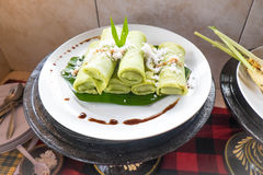 Green crepes Stock Image