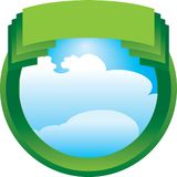 Green crest Royalty Free Stock Photo