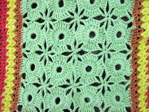 Green crochet Stock Photography