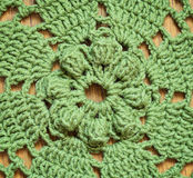Green crochet background Royalty Free Stock Photography