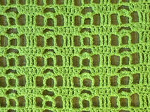 Green crochet Royalty Free Stock Photography
