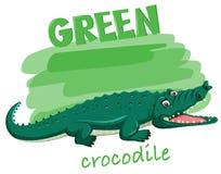 A Green crocodile concept vector illustration