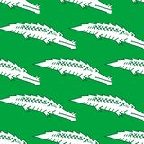 Green crocodile seamless pattern Stock Photo