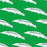 Green crocodile seamless pattern Stock Photo