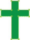 Green Cross Stock Photo