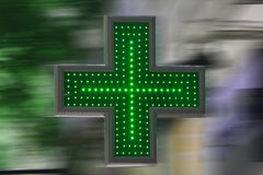 Green cross Stock Images