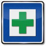 Green cross and alternative medicine Royalty Free Stock Images
