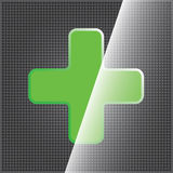 Green cross clean icon Stock Photography