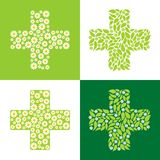Green cross Royalty Free Stock Photos