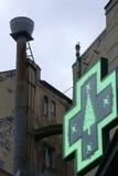 Green cross sign Royalty Free Stock Photos