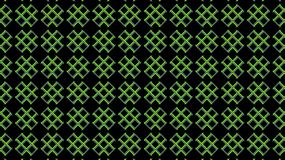 Green crosses on a black background. Geometric textile seamless pattern. Stock Images