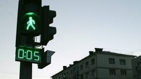 Green Crossing Countdown stock video