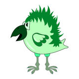 crow character cartoon vector green. Funny magic cartoonish green crow Stock Photo
