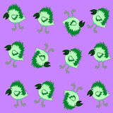 Pattern crow green vector. Funny magic cartoonish green crow pattern Royalty Free Stock Image