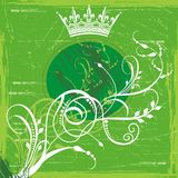 Green crown background Royalty Free Stock Images