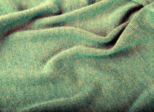 Green crumpled luxury cashmere background Royalty Free Stock Image