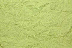 Green crumpled paper Royalty Free Stock Images