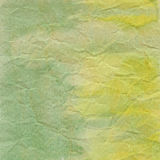 Green crumpled paper for background Stock Image