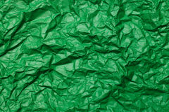 Green Crumpled paper background Stock Images