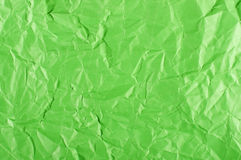 Green crumpled paper surface Royalty Free Stock Photos