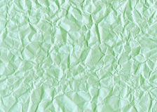 Green crumpled paper Stock Photography