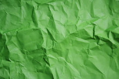 Green crumpled paper texture background. Royalty Free Stock Images