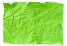 Green crumpled piece of paper Royalty Free Stock Photography