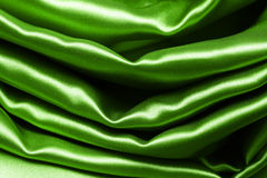 Green crumpled silk fabric Royalty Free Stock Image