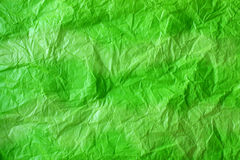 Green crushed paper background stock photography