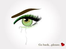 Green crying eye Royalty Free Stock Images