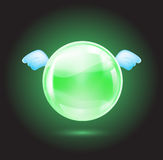 Green crystal ball Stock Images