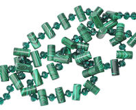 Green crystal beads Stock Images