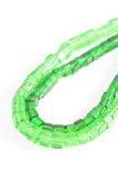 green Crystal beads Royalty Free Stock Images