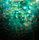 Green crystal bokeh christmas abstract background Stock Images