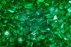 Green crystal lollies. Green gem lollies close up Royalty Free Stock Images