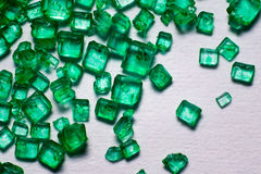 Green crystal lollies. Green gem lollies close up Royalty Free Stock Image