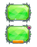 Green crystal panels,  game assets Stock Photos