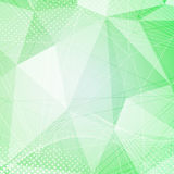 Green crystal pattern dot hi-tech background Royalty Free Stock Photo