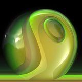 Green crystal sphere Royalty Free Stock Photo