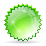 Green crystal star Stock Photography